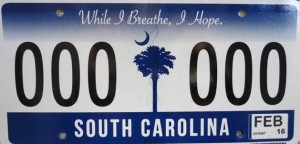 New SC License Plate