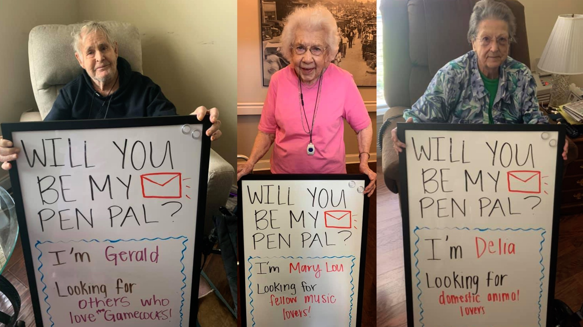 Dozens of Chapin assisted living residents looking for pen